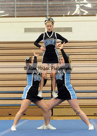 Cheer at LCC - Lansing Catholic JV - Round 3 - Jan 25