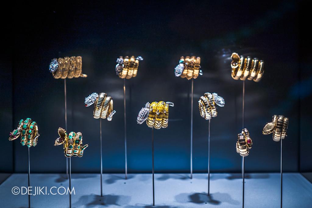 Bulgari SERPENTIform exhibition at ArtScience Museum - Bulgari High Jewellery showcase, Serpenti bracelets