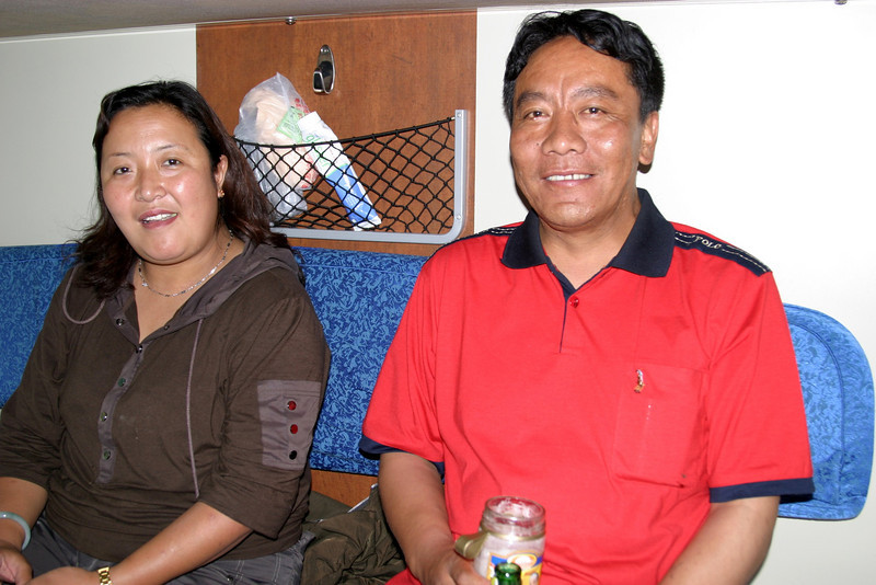 Lhasa residents and compartment companions, a really nice couple! Qinghai -Beijing to Tibet Railway, Beijing to Lhasa  Oct  2006