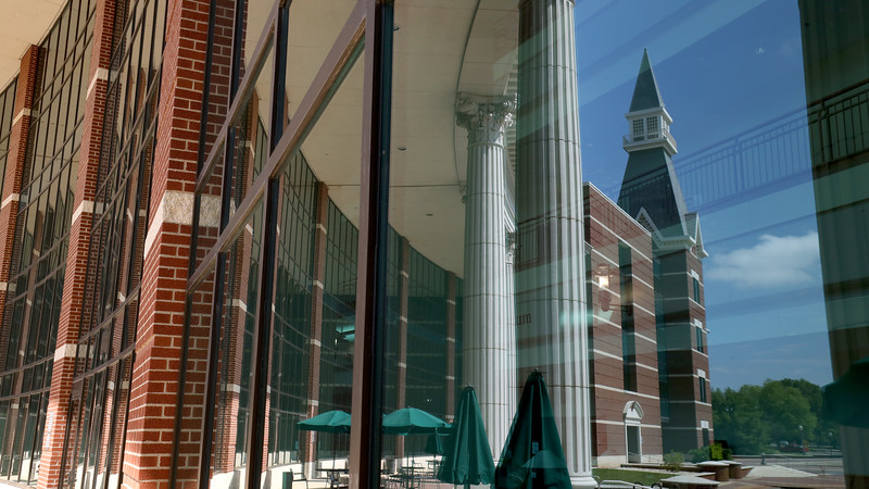 Baylor Sciences Building - BSB - windows, reflections