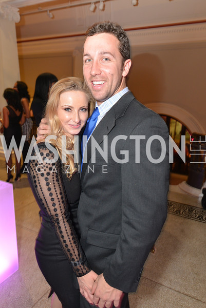 Stefanie Cocher, Gunther Heyder, Washington Life Magazine hosts the 8th Annual Young and the Guest List party at the Carnegie Library.  Photo by Ben Droz.