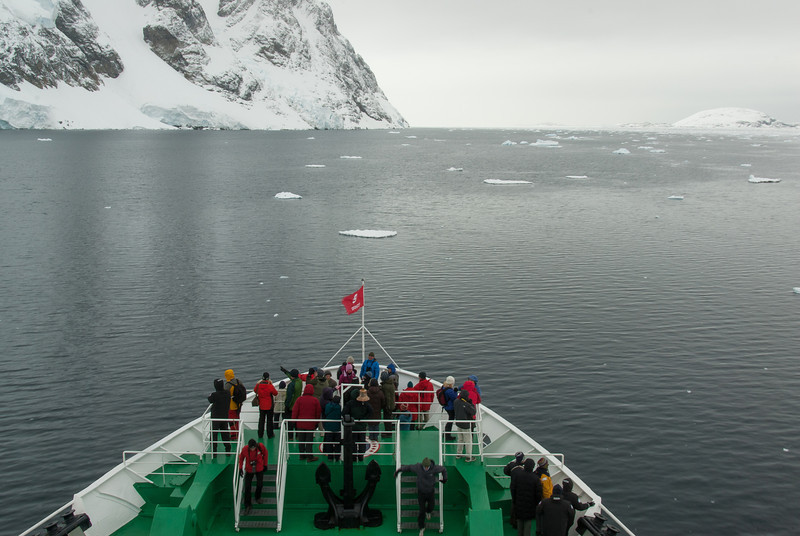 Bow of the M/S Expedition in the Lemaire Channel