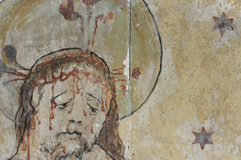 Vorzustand: Anna Altar, Predella, Rückseite, Malschcihtverlust an der Fuge, neue Kittungen, auffallende Retuschen AAF_0996_27-10-2011