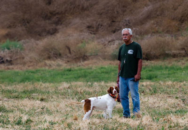 Tim and Dillion,CH ORY'S MARSHAL DILLON Joy Ory . Dog. Brittany