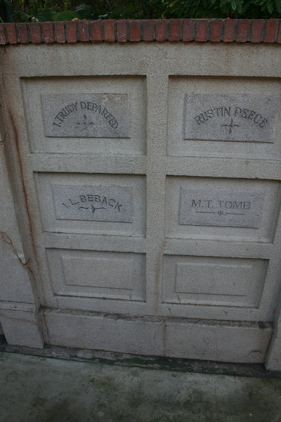 Haunted Mansion tombs