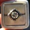 1.02ct Round Brilliant Diamond Bezel Ring 6