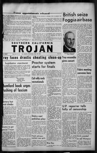 Southern California Trojan, Vol. 35, No. 38, September 29, 1943