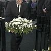 Kingsmills survivor Alan Black lays the wreath after the 30th Anniversary Memorial Service 06W02N267