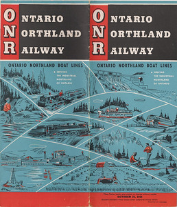 1953 October 25 Ontario Northland Railway Timetable