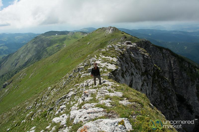 Dan at the Top of Mt. Hajla - Peaks of the Balkans, Kosovo