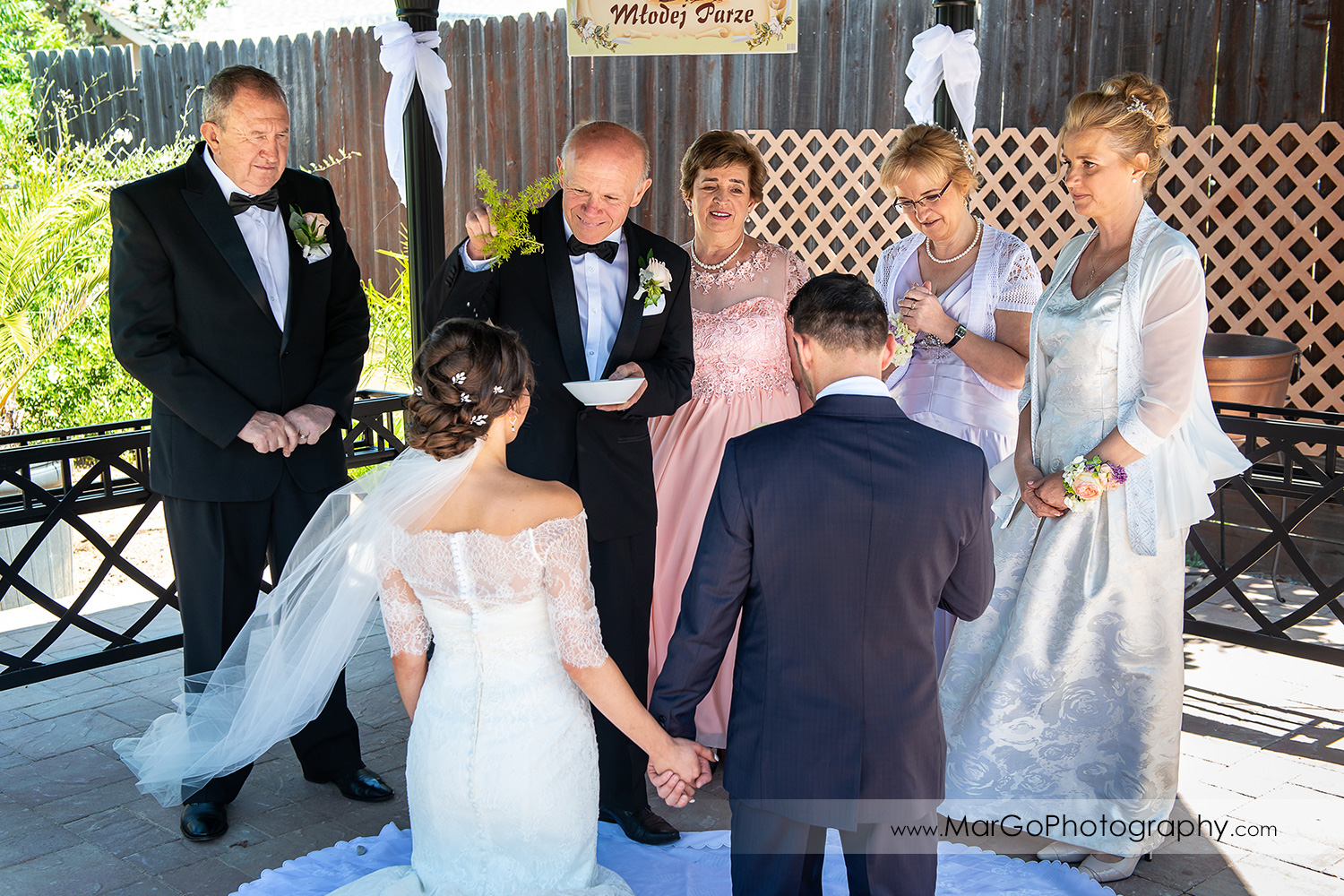 parents blessing bride and groom in Walnut Creek