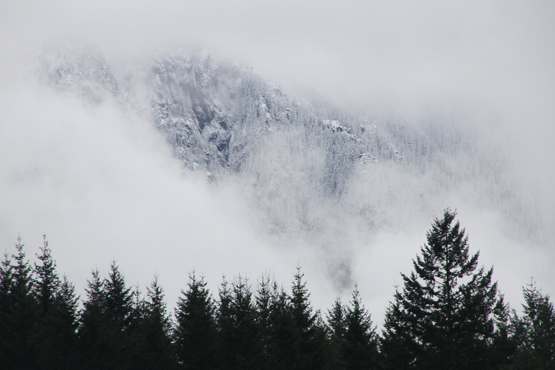 View of Mt. Si from North Bend. Brr