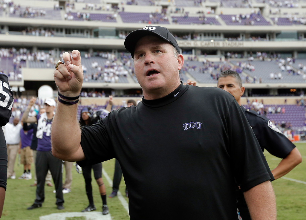 . <b>Gary Patterson</b> <br />Head coach, TCU  (Sept. 28, 2013) (AP Photo/Brandon Wade)