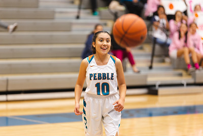 Angie Guereca plays with Pebble Hills Girls Basketball