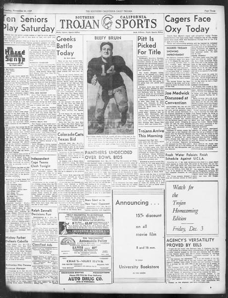 Daily Trojan, Vol. 29, No. 49, November 30, 1937