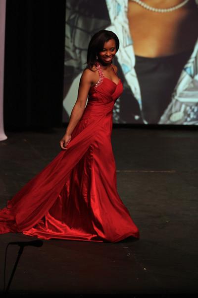 Verhonda Crawford in her evening gown