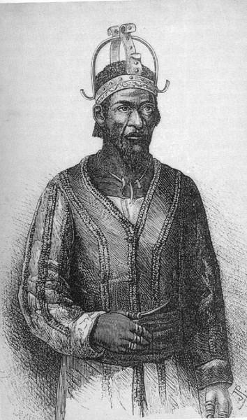 Grande Chefe Tshokwe tal como o viram os Exploradores Capello e Ivens 1881