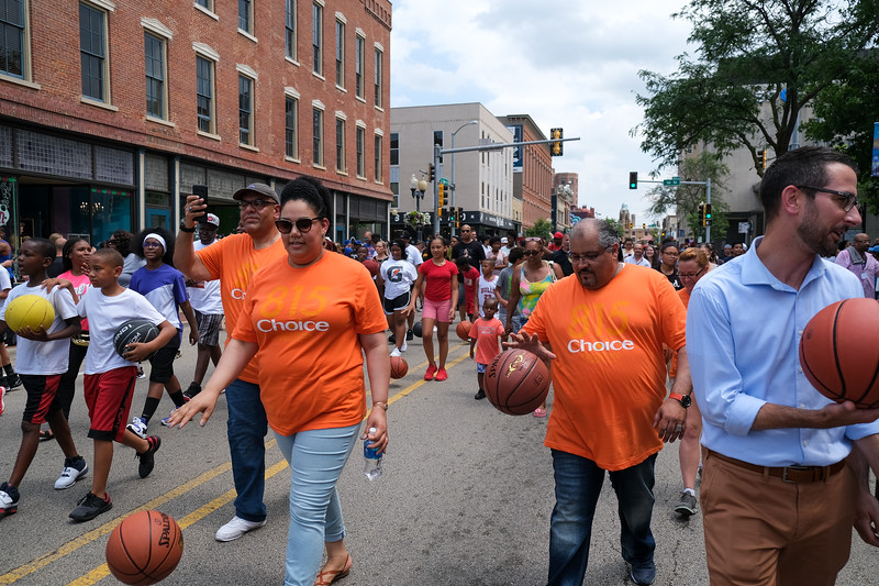 """Fred Comes Home"" Celebration in downtown Rockford, IL"