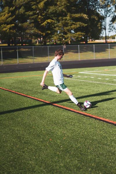 Holy Family Varsity Soccer vs. Delano, 9/19/19: Gavin Lund '21 (25)