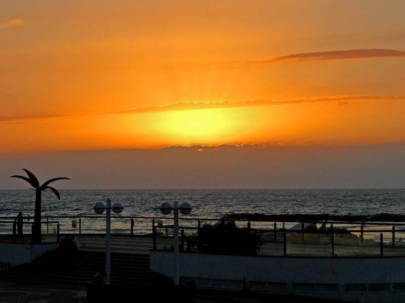 The Mediterranean at sunset.