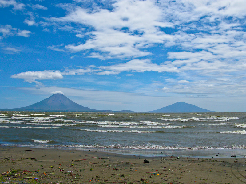 Isla Ometepe, an island formed by two rising volcanoes  Nicaragua