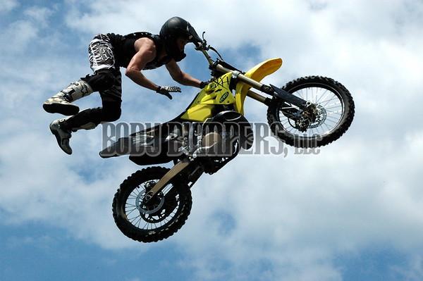 """""""FMX Stunt Riders"""" @Carlisle Bike 2008 - July 25, 2008 - Nikon D70 - Mark Teicher"""
