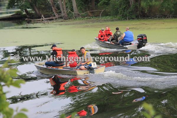 8/21/17 - Eaton Rapids water rescue training, McArthur Park