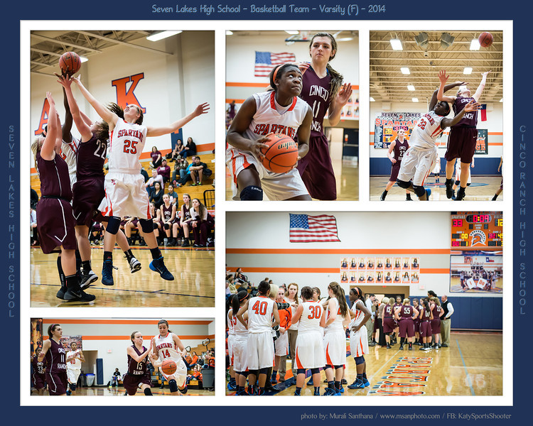 01-29-2014 - Basketball (F) - Seven Lakes High School VS Cinco Ranch High School