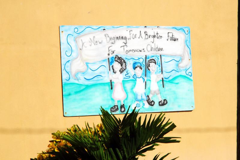 Sign in front of children's school