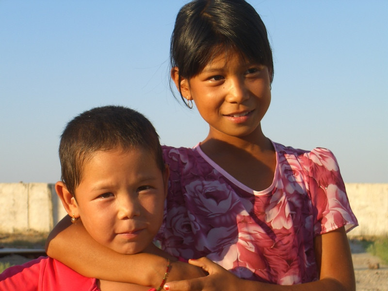 Children at Mizdakhan Cemetery - Nukus, Uzbekistan