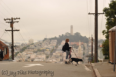 October 9, 2011 - Sarah Robinson and her Two Dogs