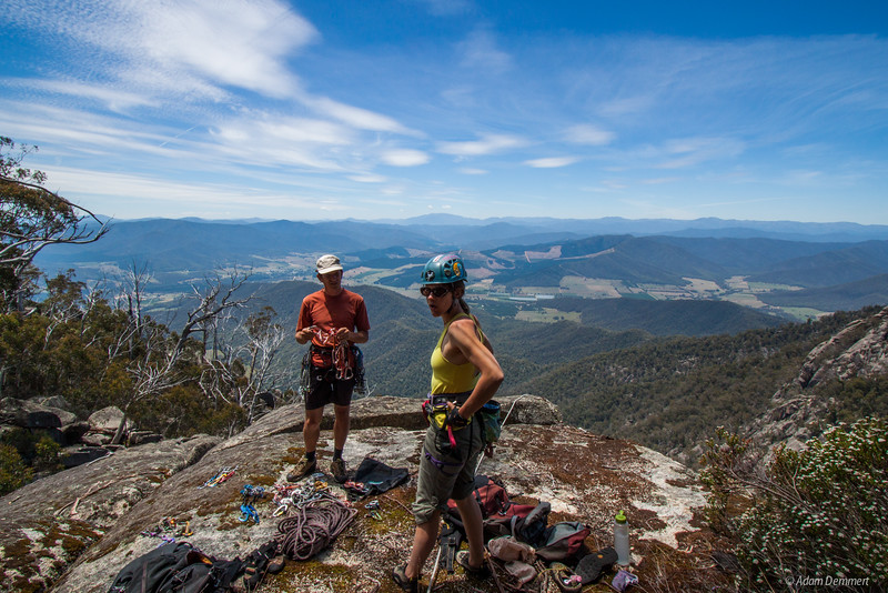 Oz and Cath getting ready for Silk and Satin, Mount Buffalo
