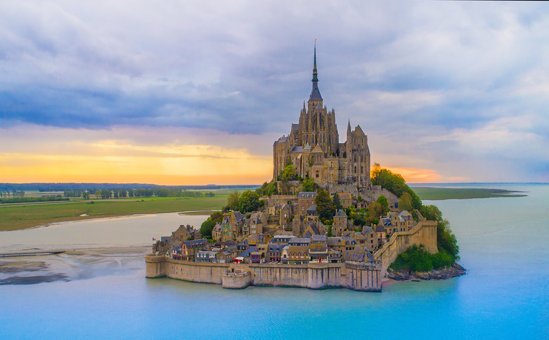 Floating Over Mont St. Michel
