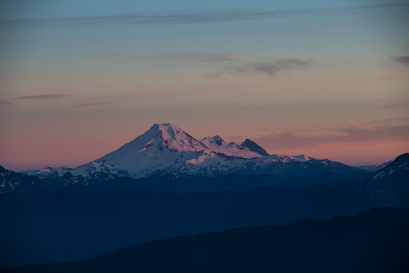 Mount Baker in Pink