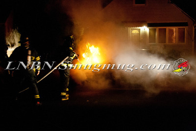 Copiague F.D. Vehicle Fire In Front of 16 Earl Place 9-3-13
