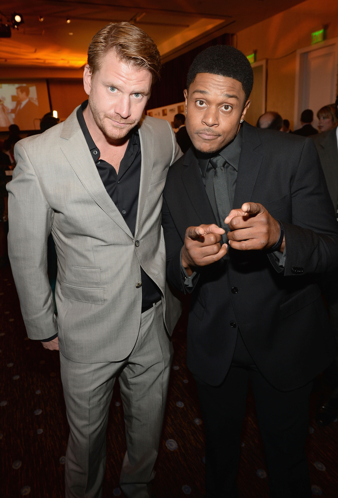 . Actors Pooch Hall (R) and Dash Mihok attend Broadcast Television Journalists Association\'s third annual Critics\' Choice Television Awards at The Beverly Hilton Hotel on June 10, 2013 in Los Angeles, California.  (Photo by Michael Buckner/Getty Images for CCTA)