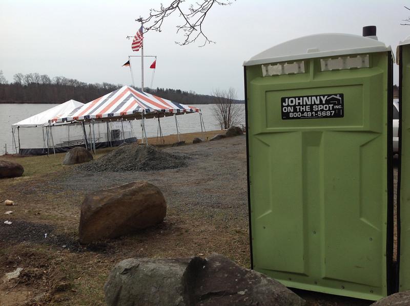 """Johnny on the Spot"" at Carnegie Lake, Princeton, NJ, 2013"