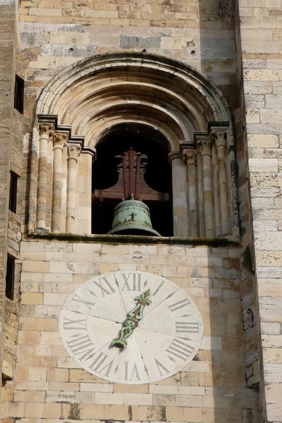 Bell and Clock on Sé. Alfama, Lisbon