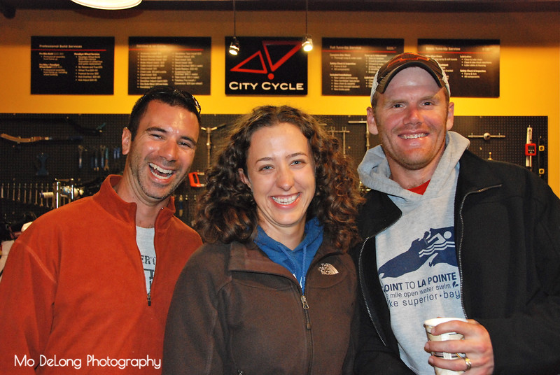 Milke Wilson, Krista and Sam Gager