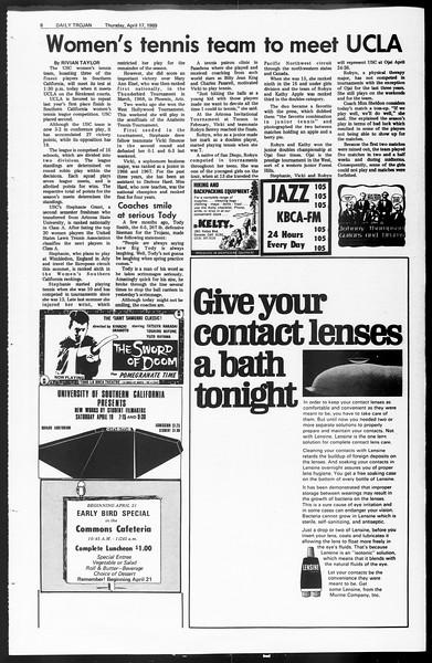 Daily Trojan, Vol. 60, No. 105, April 17, 1969