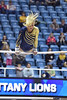 MORGANTOWN, WV - MARCH 8: WVU female gymnast Lindsey Litten performs on uneven bars during a dual meet March 8, 2015 in Morgantown, WV.
