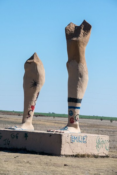 Leg statues