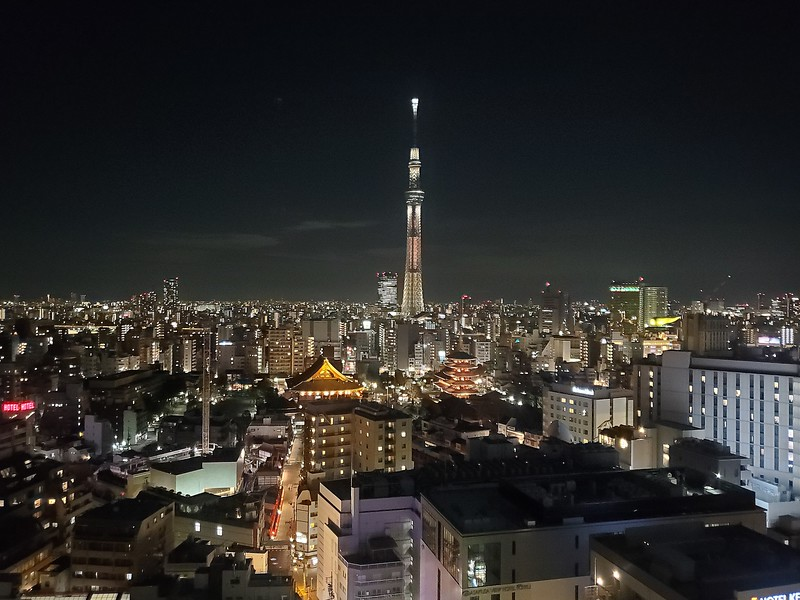 Night time view of Tokyo on Day 12 - Jan. 16th