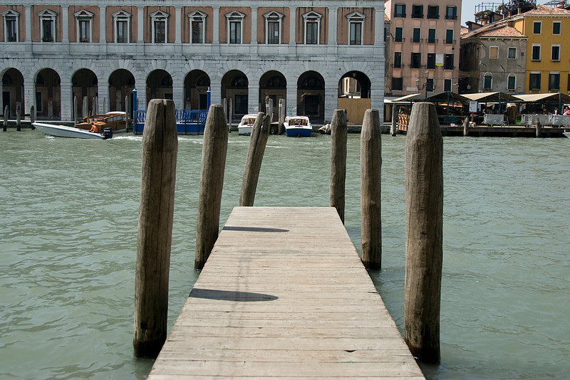 Dock at the Grand Canal in Venice, Italy