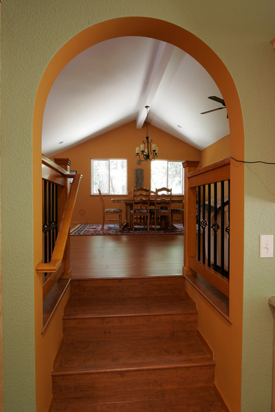 Spanish style home, Grass Valley.  Addition was created over the garage in the attic.