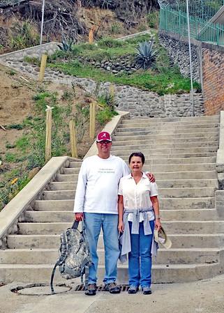 12/1/15 - Climbing The Stairs To Turi With Jim & Kara Shea