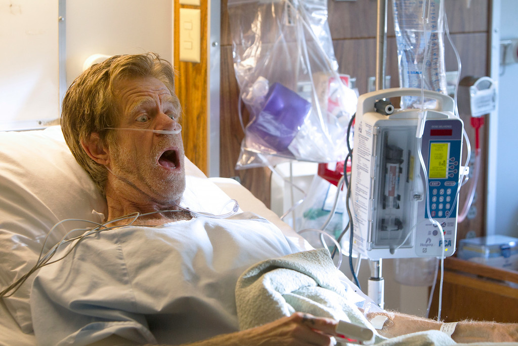 """. This image released by Showtime shows William H. Macy as Frank Gallagher in \""""Shameless.\""""  Macy was nominated for an Emmy Award for best actor in a comedy on Thursday, July 10, 2014. The 66th Primetime Emmy Awards will be presented Aug. 25 at the Nokia Theatre in Los Angeles. (AP Photo/Showtime, Monty Brinton)"""