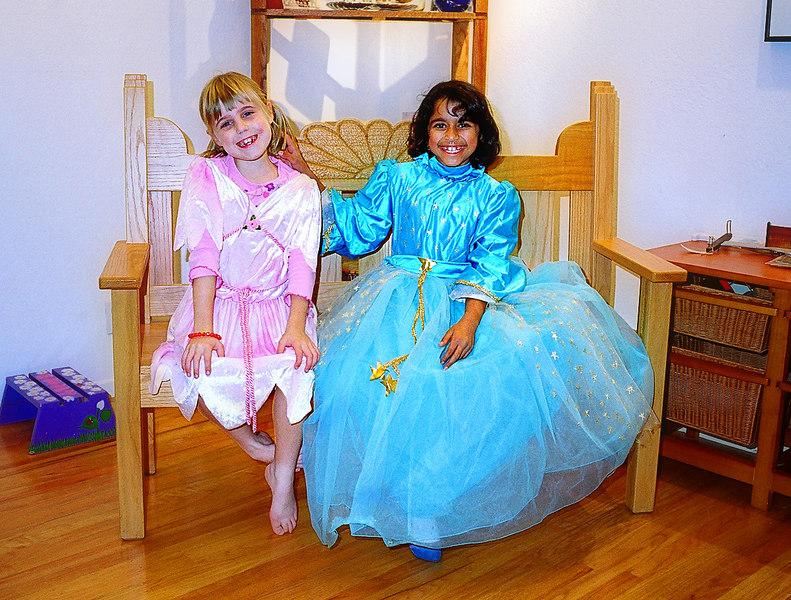 Elena and Nimisha, Halloween (duh)