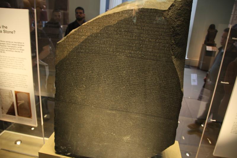Rosetta Stone (in the British Museum)