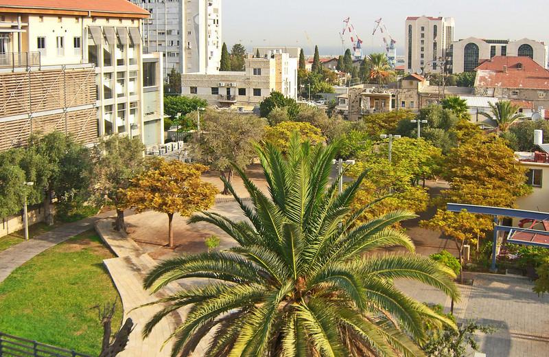 35-Haifa Port from my hotel room
